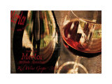 Red Wine Grape Posters by Teo Tarras