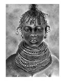 Turkana Girl, Kenya Giclee Print by Pius T Kamau