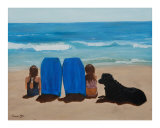 Watching The Surf Giclee Print by Karen Yee