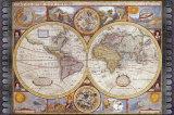Mapa Antigua, Mapa nueva del Mundo, 1626 Lámina por John Speed