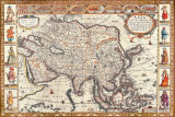 Antique Map, Asia, 1626 Prints by John Speed