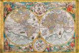 Jean Boisseau - Antik Harita, Orbis Terrarum, 1636 - Poster