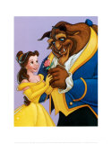 Belle and the Beast, A Romantic Gift Print