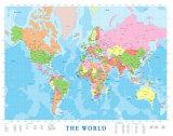 Karte von Nordamerika Kunstdrucke