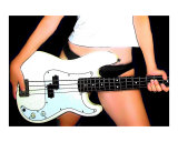 Bass Guitar Giclee Print by Rhonda Watson