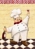 Le Chef et le Vin Poster by Daphne Brissonnet