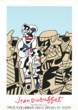 Inspection of the Territory Silketrykk av Jean Dubuffet
