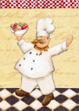 Le Chef et les Fruits Poster by Daphne Brissonnet