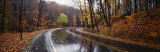 Rainy Road in Autumn, Euclid Creek, Parkway, Ohio, USA Photographic Print by  Panoramic Images