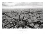 Paris, Stjernepladsen set fra oven, på fransk Posters af Guillaume Plisson