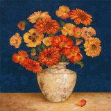 Poppies and Indigo II Poster par Pamela Gladding
