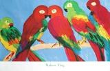 Papegøyer Trykk-samleobjekter av Walasse Ting