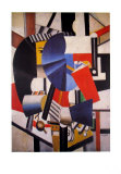 La Femme Au Miroir Collectable Print by Fernand Leger