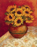 Tuscan Sunflowers I Art by Pamela Gladding