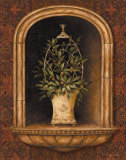 Olive Topiary Niches I Affiches par Pamela Gladding