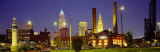 Buildings Lit Up at Night, Cleveland, Ohio, USA Photographic Print by  Panoramic Images