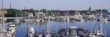 View of Yachts in a Bay, Annapolis MD Naval Academy and Marina, Annapolis, USA Photographic Print by  Panoramic Images