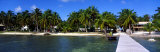 View of Beachfront from Pier, Caye Caulker, Belize Photographic Print by Panoramic Images 