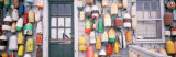 Large Group of Buoys Hanging on a Shack, Niantic, Connecticut, USA Photographic Print by  Panoramic Images