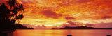 Sunset, Huahine Island, Tahiti Fotografisk trykk av Panoramic Images,