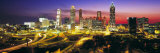 Skyline, Evening, Dusk, Illuminated, Atlanta, Georgia, USA Photographic Print by  Panoramic Images
