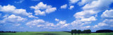Cumulus Clouds with Landscape, Blue Sky, Germany, USA 写真プリント : パノラミック・イメージ(Panoramic Images)
