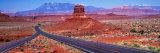 Fork in Road, Red Rocks, Red Rock Country, Utah, USA Photographic Print by  Panoramic Images