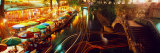 Night, Evening, Nightlife, Riverwalk, San Antonio, Texas, USA Photographic Print by  Panoramic Images