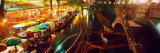 Night, Evening, Nightlife, Riverwalk, San Antonio, Texas, USA Photographic Print by  Panoramic Images