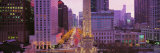 Twilight, Downtown, City Scene, Loop, Chicago, Illinois, USA Photographic Print by Panoramic Images