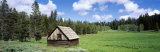 Cabin and Meadow, Klamath National Forest, California, USA Photographic Print by  Panoramic Images