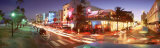 Traffic on a Road, Ocean Drive, Miami, Florida, USA Photographic Print by Panoramic Images 