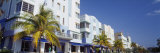 Palm Trees in Front of Buildings, Art Deco Hotels, Ocean Drive, Miami Beach, Florida, USA Photographic Print by Panoramic Images