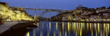 Night, Luis I Bridge, Porto, Portugal Photographic Print by Panoramic Images