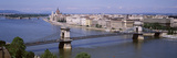 Aerial View, Bridge, Cityscape, Danube River, Budapest, Hungary Photographic Print by  Panoramic Images