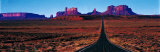 Route 163, Monument Valley, Tribal Park, Utah, USA Fotografisk trykk av Panoramic Images,