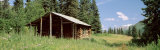 Log Cabin in a Field, Kenai Peninsula, Alaska, USA Fotografisk trykk av Panoramic Images,