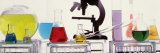 Close-up of Laboratory Equipment Photographic Print by  Panoramic Images