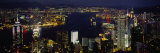 Buildings Illuminated at Night, Hong Kong Photographic Print by Panoramic Images 