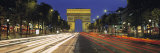 View of Traffic on an Urban Street, Champs Elysees, Arc De Triomphe, Paris, France Photographic Print by  Panoramic Images