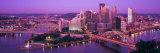 Dusk, Pittsburgh, Pennsylvania, USA Fotografie-Druck von  Panoramic Images