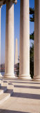 Jefferson Memorial, Columns, Washington Monument, Washington DC, District of Columbia, USA Photographic Print by  Panoramic Images