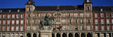Statue in Front of a Building, Plaza Mayor, Madrid, Spain Photographic Print by Panoramic Images