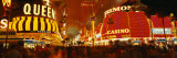 Casino Lit Up at Night, Fremont Street, Las Vegas, Nevada, USA Photographic Print by  Panoramic Images