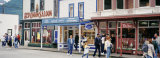 People in Front of Stores, Skagway, Alaska, USA Photographic Print by  Panoramic Images