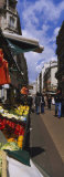 Group of People in a Street Market, Rue De Levy, Paris, France Photographic Print by  Panoramic Images