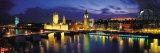 Panoramic Images - Night, London, England, United Kingdom - Fotografik Baskı