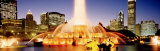 Evening, Buckingham Fountain, Chicago, Illinois, USA Photographic Print by  Panoramic Images