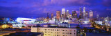 High Angle View of the City at Night, Los Angeles, California, USA Photographic Print by  Panoramic Images
