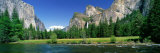 Bridal Veil Falls, Yosemite National Park, California, USA Fotoprint van Panoramic Images,